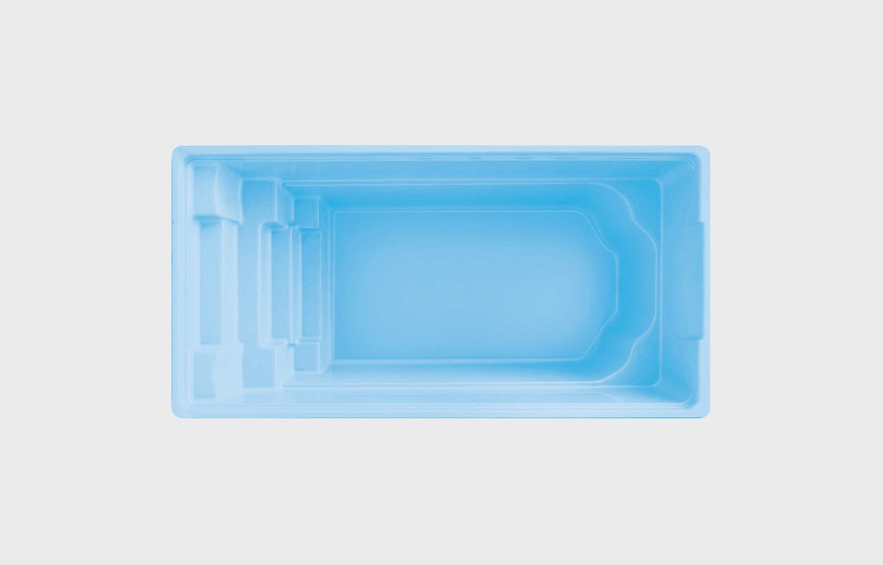 Visa exempel på glasfiberpool